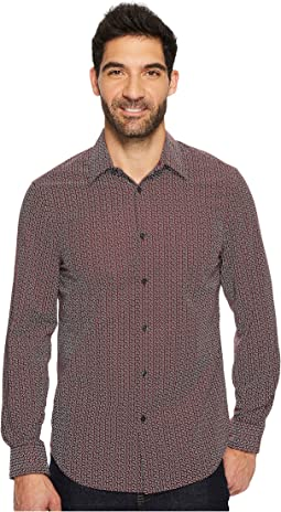Perry Ellis - Long Sleeve Multicolor Paisley Print Shirt
