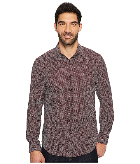 perry ellis long sleeve multicolor paisley print shirt