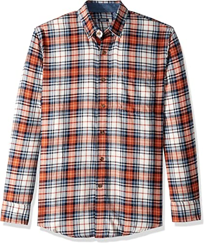 IZOD Hommes's Big and Tall Flannel manche longue Shirt, Vanilla ice, 4X-grand