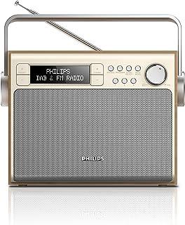 Philips飛利浦 AE5020 便攜式收音機(帶 DAB+,數碼 FM,電池或電源運行,程序存儲) silber/braun cm