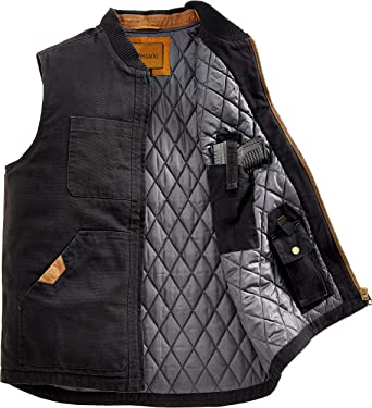 Venado Concealed Carry Vest for Men - Heavy Duty Canvas - Conceal Carry Pockets at Amazon Men's Clothing store