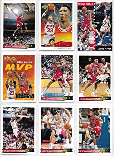 1992-93 Upper Deck Basketball Chicago Bulls Partial Team Set Of 12 Cards Jordan!