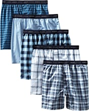 Hanes Men's 5-Pack Tagless, Tartan Boxer with Exposed Waistband