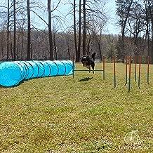 Lord Anson™ Dog Agility Set - Dog Agility Equipment - 1 Dog Tunnel, 6 Weave Poles, 1 Dog Agility Jump - Canine Agility Set for Dog Training, Obedience, Rehabilitation