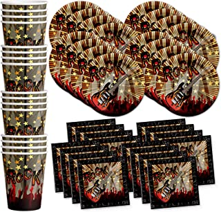 Birthday Galore Rock Star Party Supplies Set Plates Napkins Cups Tableware Kit for 16