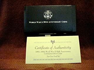 World War II 50th Anniversary Commemorative Coin Set