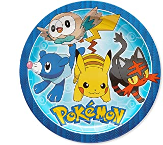 American Greetings Pokemon Paper Dinner Plates for Kids (8-Count)