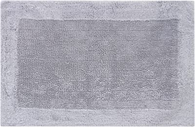 "Royal Touch ' 86OBO171902100034 100% Certified Egyptian Cotton Bath Rug, 21"" X 34, Gray"