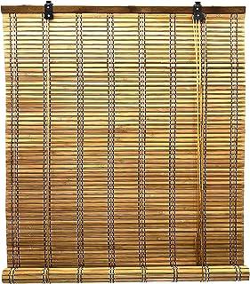 comprar comparacion Solagua 6 Modelos 14 Medidas de estores de bambú Cortina de Madera persiana Enrollable (90 x 175 cm, Marrón)