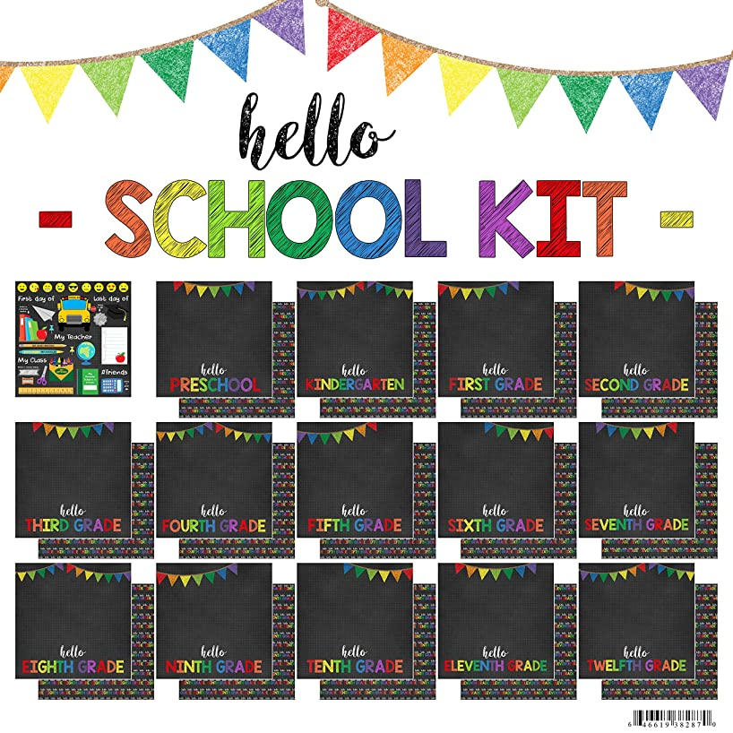 Scrapbook Customs Hello School Paper Pack Scrapbook Kit