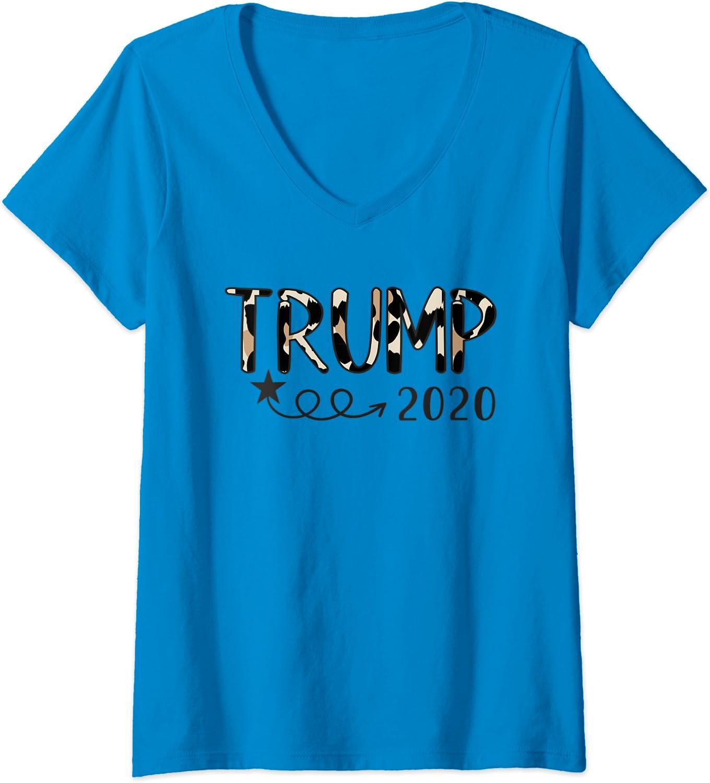Glam President Trump Leopard Tee Donald Trump KAG MAGA Presidential debate Trump Girl Election shirt Donald Trump 2020 Trump 2020