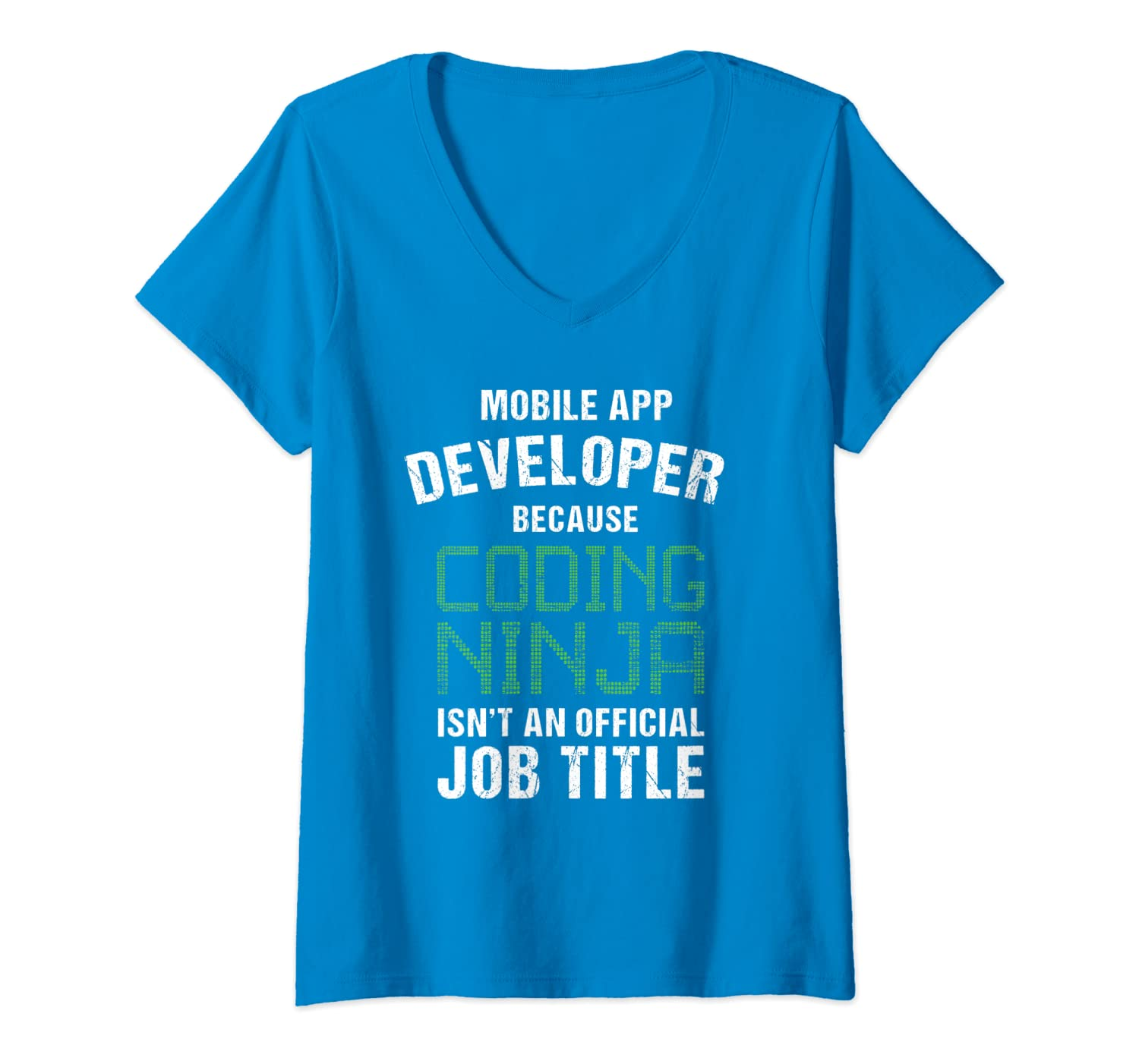 Amazon.com: Womens Mobile App Developer Shirt Coding Ninja ...