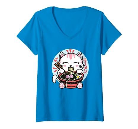 Amazon.com: Kawaii Ramen - Camiseta de manga corta para ...
