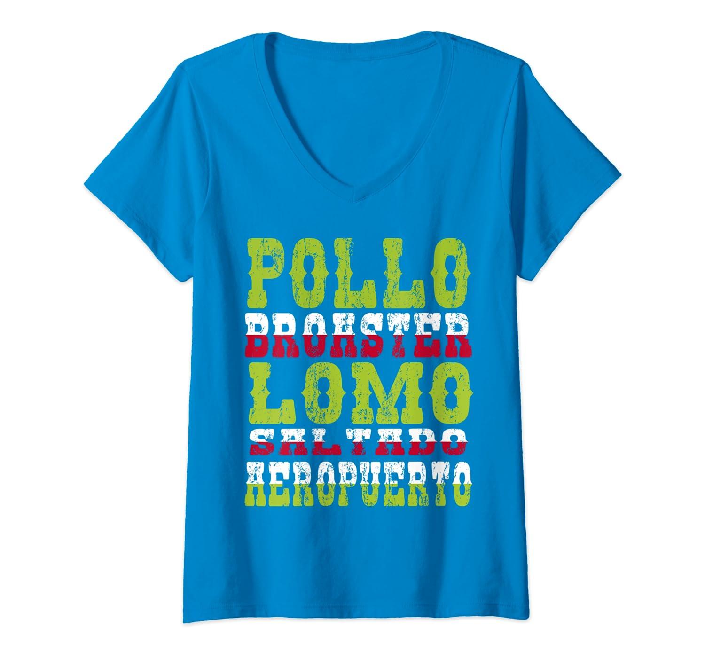 Amazon.com: Womens Cartel Chicha Peruano V-Neck T-Shirt ...
