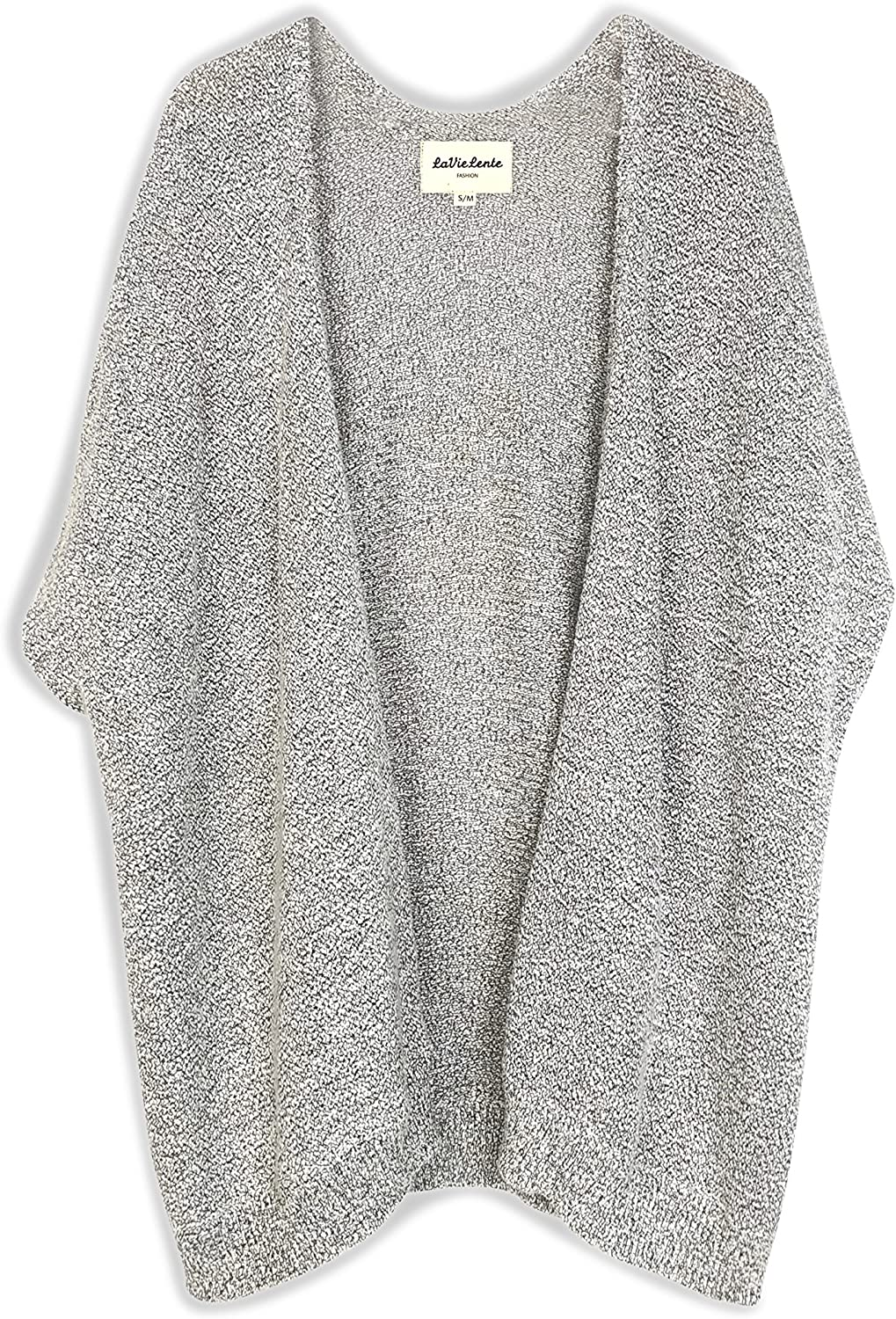 LaVieLente Women's Sleeveless Ultra Soft Oversized Iconic Knitted Sweater Cape