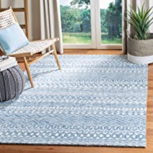 Safavieh MLP502M-5 Micro-Loop Collection MLP502M Blue and Ivory Premium Wool (5' x 8') Area Rug