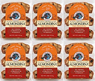 Almondina Almond Cookies, Original, 4-Ounce Package (Pack of 6)