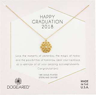 Dogeared Womens Gold Grad 2018 Chain Necklace, 16