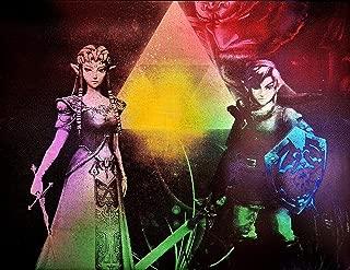 Zelda Triforce Link Gannondorf Painting Metal Art