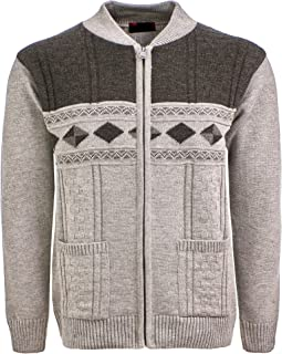 Sonia Fashions Men's Zipper Cardigan with Two Pockets