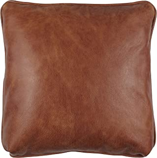 Stone & Beam Rustic 100% Top Grain Leather Decorative Throw Pillow, Badlands Saddle