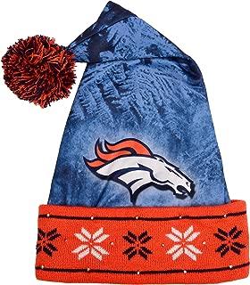 Denver Broncos Light Up Santa Hat