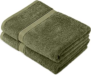 Pinzon by Amazon - Egyptian Cotton Towel Set, 2 Bath Towels - Moss, 600gsm