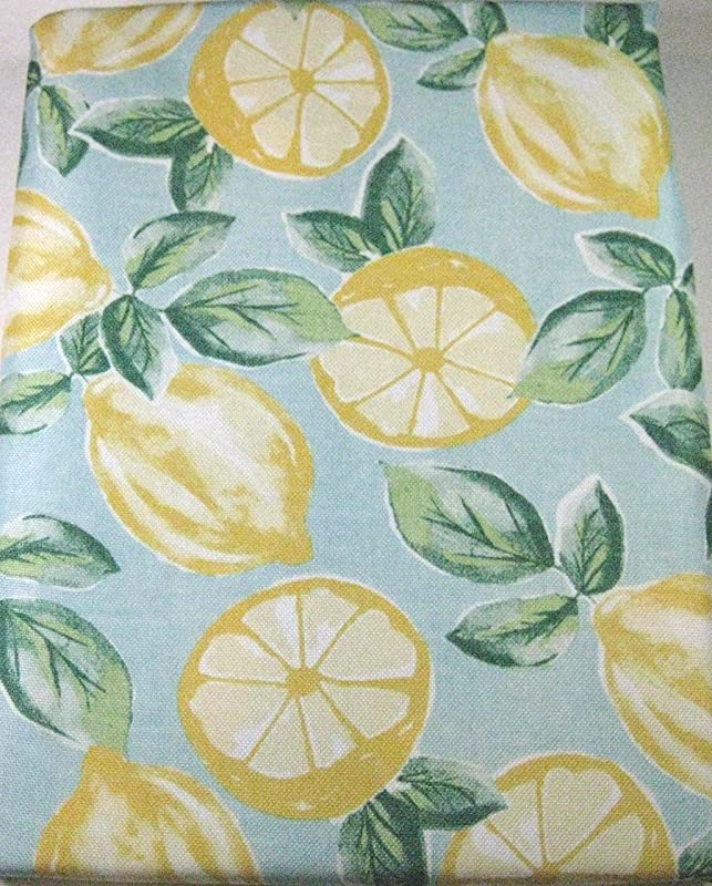 Isaac Mizrahi New York Luscious Yellow Lemons Polyester Indoor Outdoor Tablecloth 60in X 104in