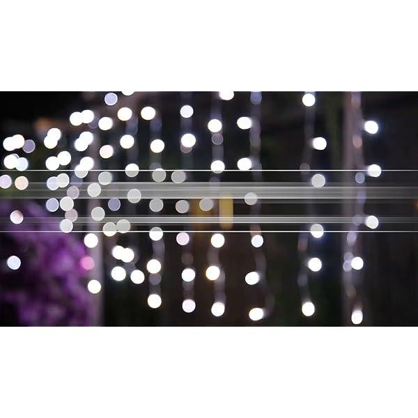 Cascata di Luci ECOWHO 440 LED Tenda Luminosa Bianco Caldo e Bianco Freddo,12x0,8m Luci di Natale 9 Modalità con telecomando, Catena Luminosa esterno per Natale patio Giardino Matrimonio 7 spesavip