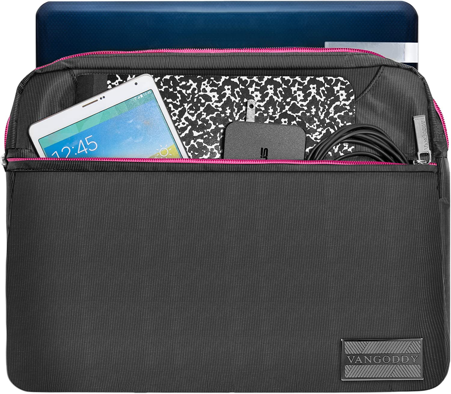 PS42 14 Slim Pink Trim 13.3 inch Laptop Messenger Bag with HDMI Cable for MSI Shadow GS30 13.3