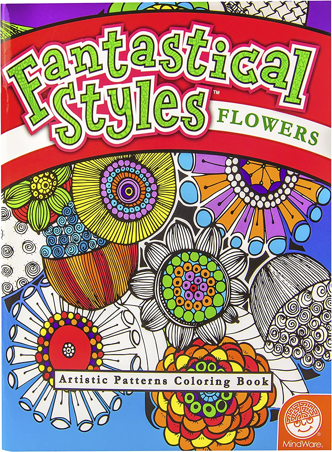 MindWare – Fantastical security Flowers Artisti 1 year warranty Coloring Book