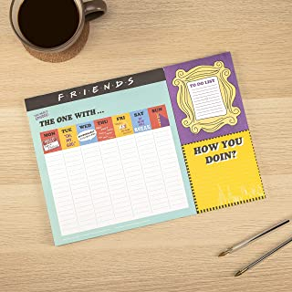 Friends TV Sitcom Themed A3 Desk Planner   Weekly Desk Note Pad 52 Pages   Includes A Handy to Do List with Tear Off Pages