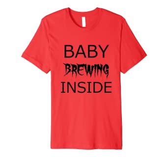 e99baf464 Image Unavailable. Image not available for. Color: Baby Brewing Inside Funny  Halloween Maternity Shirts Costume