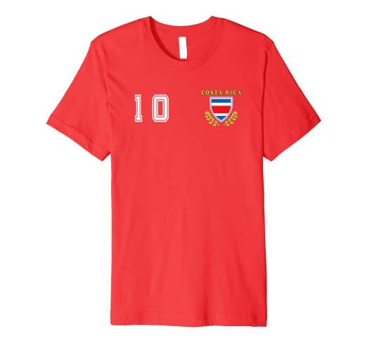 ffae0367c03 Image Unavailable. Image not available for. Color  Costa Rica La Sele  Futbol Soccer Jersey Fan Football Tshirt