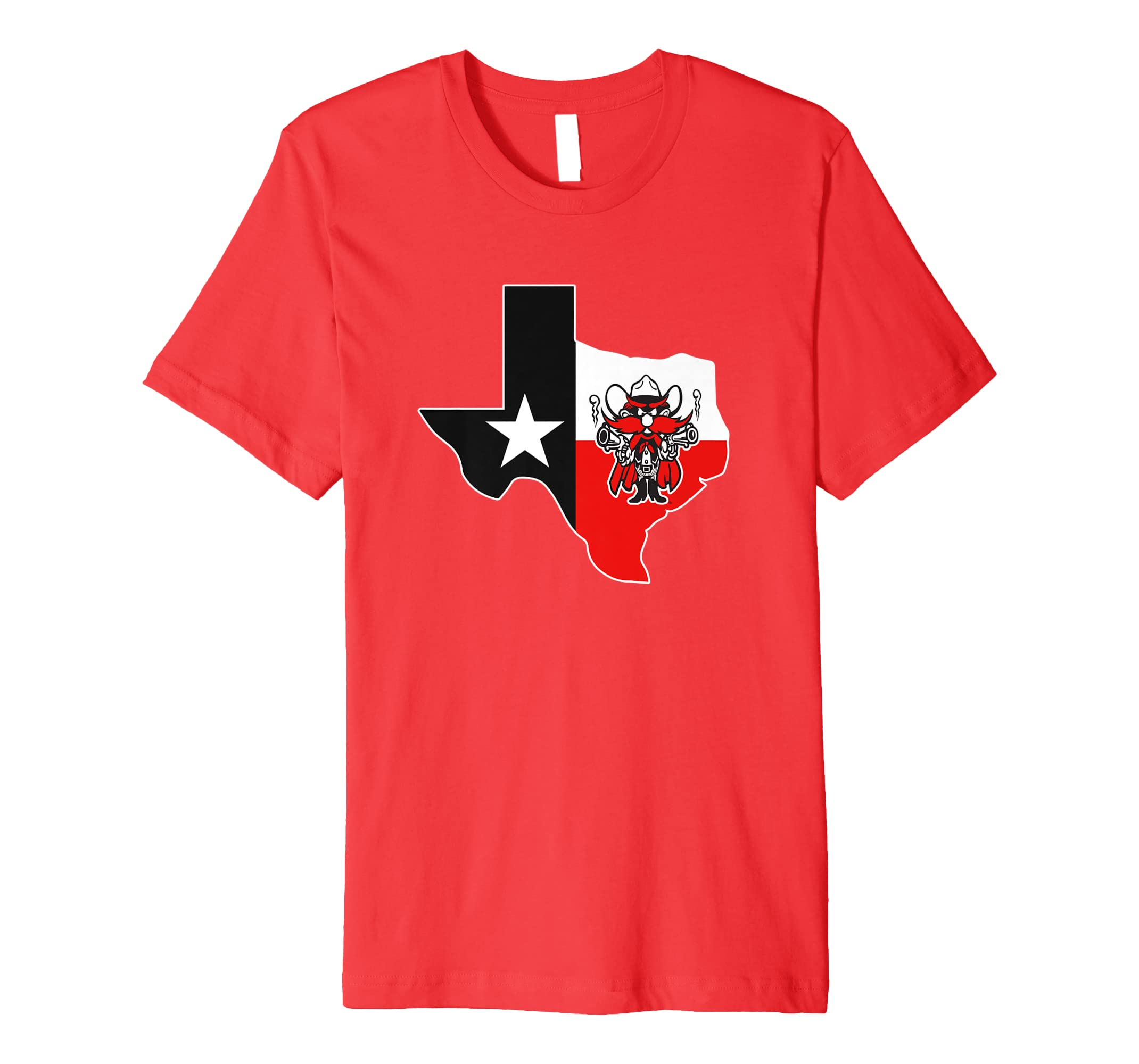 Texas Tech Red Raiders Mascot In State Outline Flag T-Shirt Hoodie ... ae5c9682d