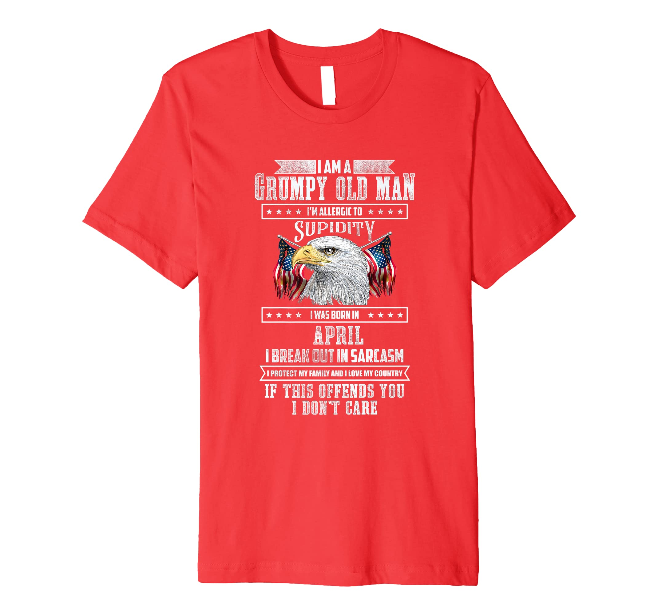 I'm A Grumpy Old Man Born In April Father's Day Gift-Yolotee