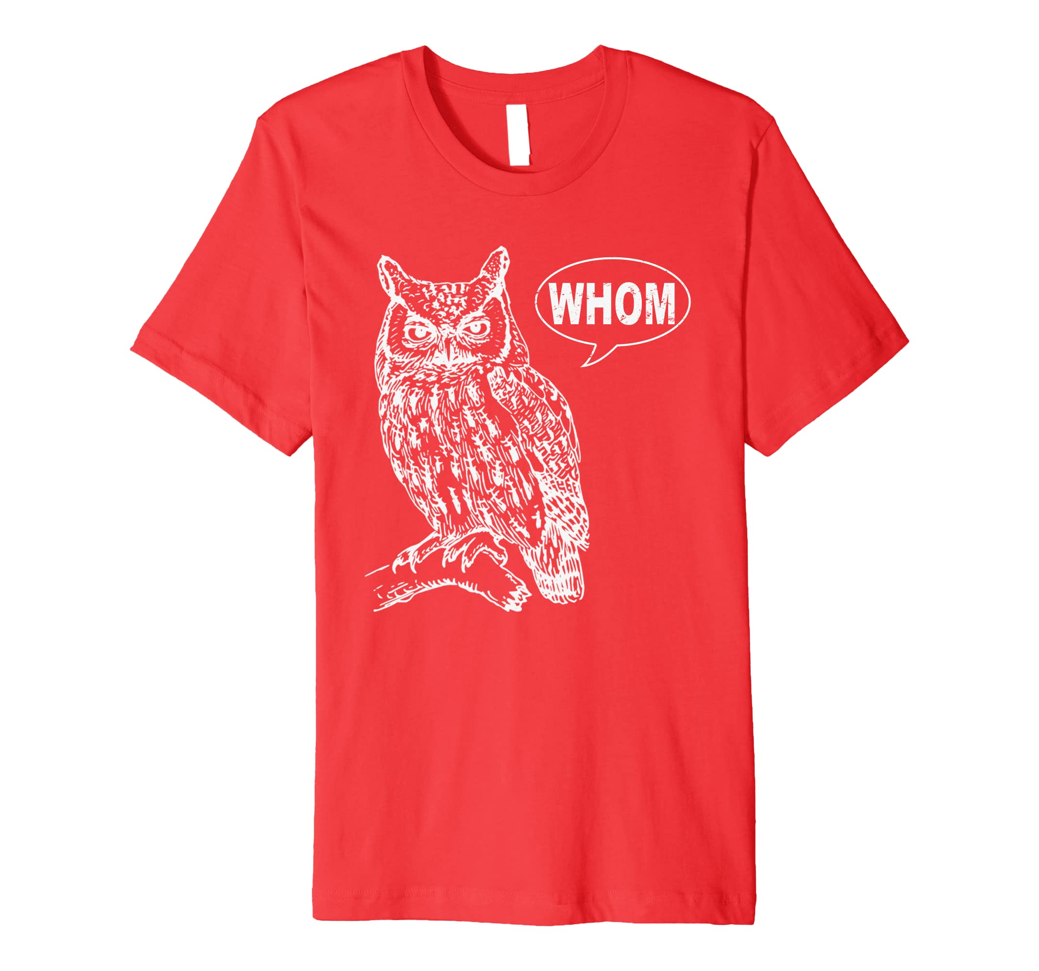 Owl Grammar Shirt Whom-AZP