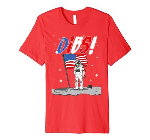50th Anniversary Moon Landing Astronauts DIBS US Space Kids Premium T-Shirt