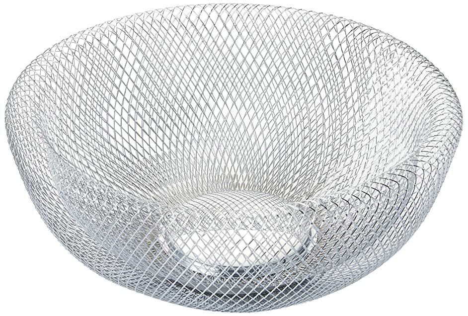 NIFTY 7520CHM Double Wall Mesh Chrome Decorative and Fruit Bowl, 3.5 quart/10,