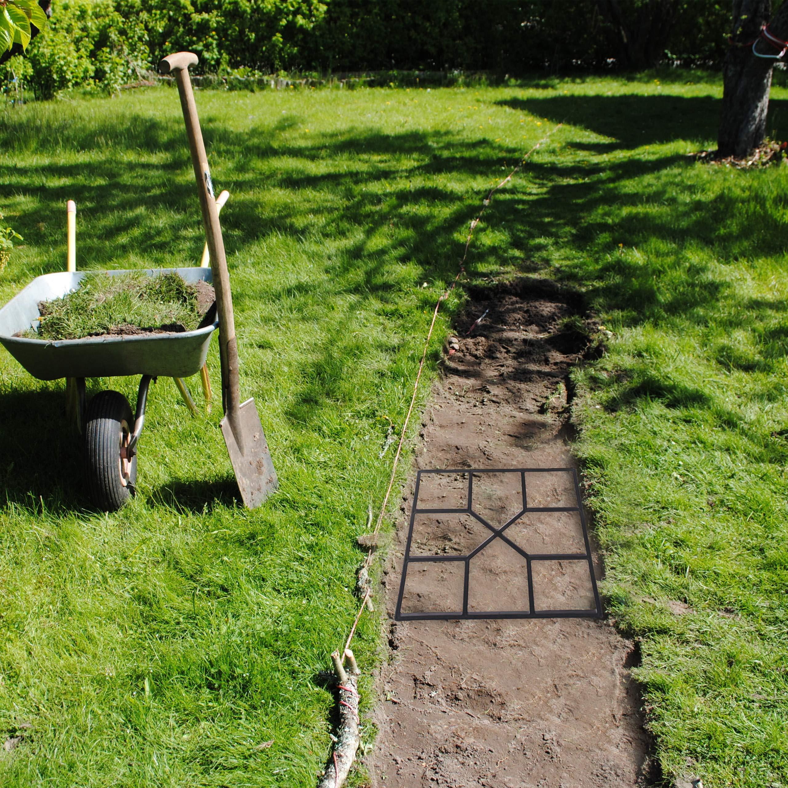 Relaxdays Pack de 5 Moldes Hormigón para Pavimentos, Plástico, Negro, 40 x 40 cm: Amazon.es: Bricolaje y herramientas