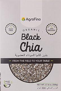 Agrofino 500 Gm Organic Black Chia Seeds- Gluten Free