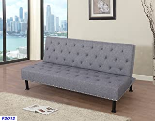 Beverly Furniture Futon Convertible Sofa, Grey