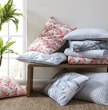 Tommy Bahama Chevron Collection Quilt Set-100% Cotton, Lightweight, All Season Bedding, Pre-Washed for Added Softness, Queen,
