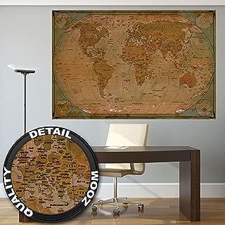 100x70cm Bild Sepia Weltkarte