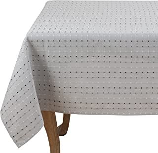 SARO LIFESTYLE 2136 Cousu Collection Square Stitched Tablecloth/2136.GY70S, 70