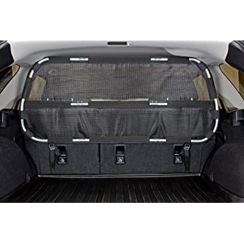 "Bushwhacker - Cargo Area Dog Barrier for CUV & Mid-Sized SUV 46"" Wide Hatchback Pet Divider Crossover Vehicle Car Net Mesh Travel Back Seat Barricade Partition Gate Restraint Fence Trunk"