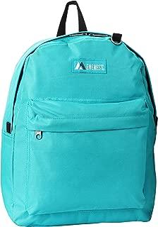 Everest Classic Backpack, Aqua Blue, One Size