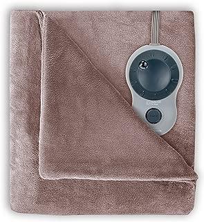 Sunbeam Heated Blanket | Velvet Plush, 10 Heat Settings, Mushroom, Queen - BSV9GQS-R772-12A44