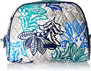 Women's Signature Cotton Large Zip Cosmetic Makeup Bag