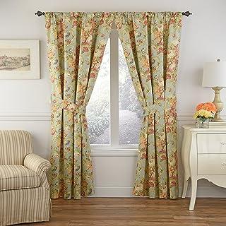 Waverly Spring Bling Rod Pocket Curtains for Living Room, Single Panel, 84x52, Vapor